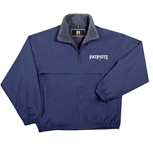 NFL New England Patriots  Triumph Fleece Lined Mid Weight Jacket, Large, Navy - Pharaoh Athletics