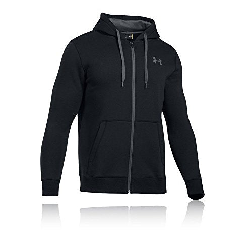 Under Armour Men's Rival Fleece Fitted Full Zip Hoodie,Black /Graphite, XX-Large