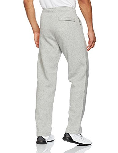 NIKE Sportswear Men's Open Hem Club Pants, Dark Grey Heather/White, Large