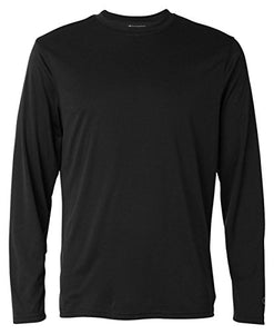 Champion by Men's Double Dry Long Sleeve Tee_Black_L