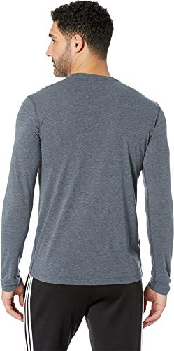 adidas Men's Training Ultimate Long Sleeve Tee, Dark Grey Heather, X-Large