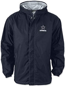 Dunbrooke Apparel NFL Dallas Cowboys Legacy Nylon Hooded Jacket, Large, Navy