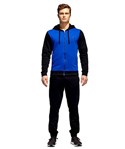 Adidas Men's Energize Track Suit 3 Stripes Hoodie Tracksuit Blue/Black