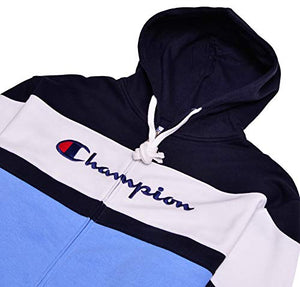 58f120500b7e Champion Mens Big & Tall Color Block Hoodie Navy White Candid Blue 3X-Large