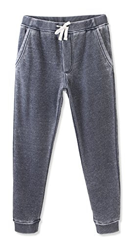 HETHCODE Mens Classic Fit Basic Fleece Closed-Bottom Pocketed Joggers Sweatpants Burnout Navy L