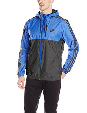 adidas Men's Essential Woven Jacket, Blue/Black, Large