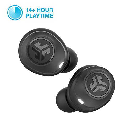 JLab Audio JBuds Air True Wireless Signature Bluetooth Earbuds + Charging Case - IP55 Sweat Resistance - Class 1 Bluetooth 5.0 Connection - 3 EQ Sound Settings: JLab Signature, Balanced, Bass Boost