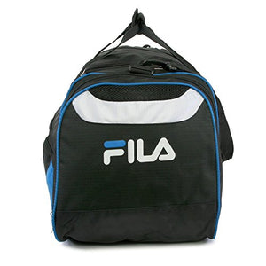 Fila Acer Large Sport Duffel Bag, Black/Blue, One Size