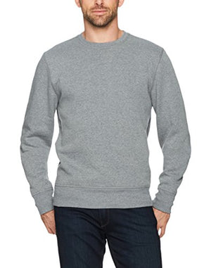 Amazon Essentials Men's Crewneck Fleece Sweatshirt, Light Grey Heather, XX-Large