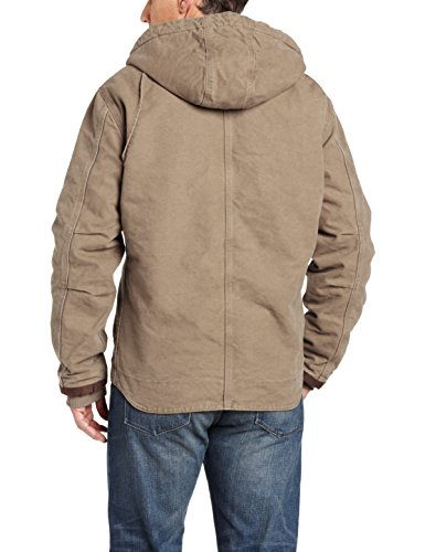 Carhartt Men's Sherpa Lined Sandstone Hooded Multi Pocket Jacket J284,Light Brown,2X-Large
