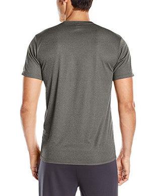 adidas Men's Training Essentials Tech V-Neck Tee, Dark Grey Heather/Vista Grey, X-Large