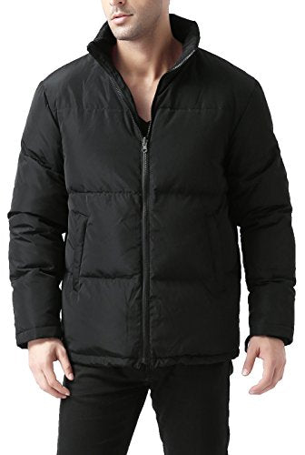 BGSD Men's James 3-in-1 Waterproof Down Parka Coat - L Black