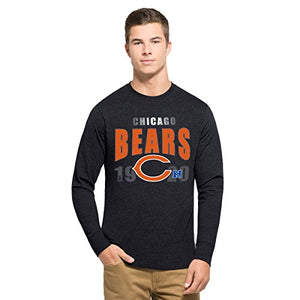 '47 NFL Chicago Bears Men's Club Long Sleeve Tee, Small, Fall Navy