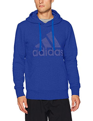 adidas Men's Athletics Essential Cotton Pullover Hoodie, Mystery Ink/Mystery Ink, Large