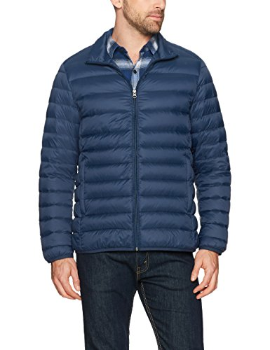 Amazon Essentials Men's Lightweight Water-Resistant Packable Down Jacket, Navy, Small - Pharaoh Athletics