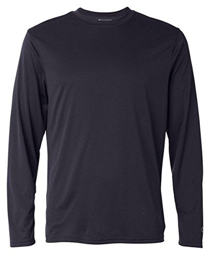 Champion CW26 Adult Double Dry Long-Sleeve Interlock T-Shirt - Navy44; Extra Large
