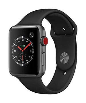 Apple Watch Series 3 (GPS + Cellular, 42mm) - Space Gray Aluminium Case with Black Sport Band