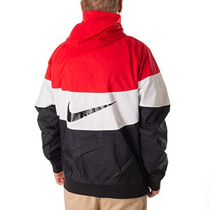 NIKE Mens HD GX Windrunner Hooded Track Jacket University Red/Summit White/Black AJ1396-658 Size X-Large