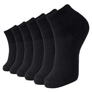+MD Women's and Men's Ultra Comfort Rayon from Bamboo Socks Cushioned Sole Quarter Size,6 Pack