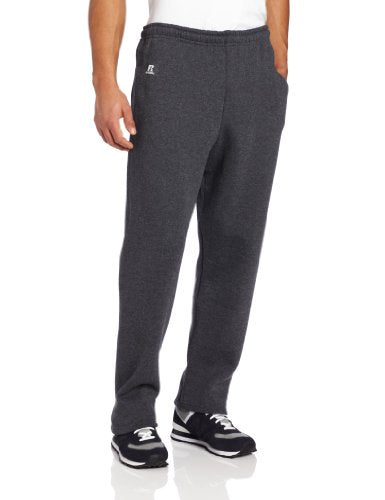 Russell Athletic Men's Dri-Power Open Bottom Sweatpants with Pockets, Black Heather, XXX-Large