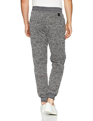 Southpole Men's Basic Fleece Marled Jogger Pant, Grey, X-Large
