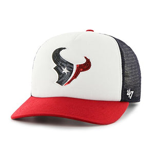 '47 NFL Houston Texans Women's Glimmer Captain CF Strap Hat, Women's, Navy