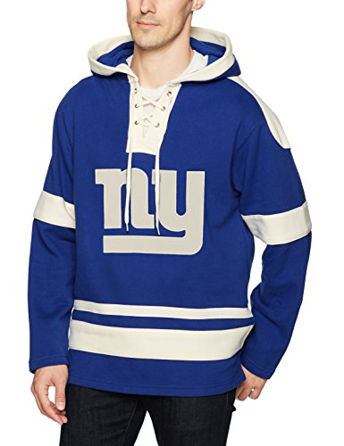 NFL New York Giants Men's OTS Grant Lace Up Pullover Hoodie, Royal, X-Large