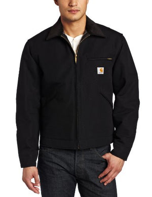 Carhartt Men's Weathered Duck Detroit Jacket J001,Black,Large