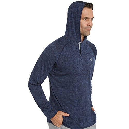 Jolt Gear Mens Hoodies Pullover - Long Sleeve Casual Hoodie for Men - Lightweight Thin Hooded Sweater T Shirt