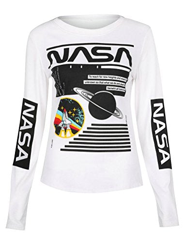Ezcosplay Crew Neck Long Sleeve Letter Printed Shirt Graphic Tee Tops for Women