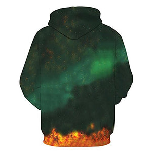 PIZZ ANNU Neutral Long Sleeve 3D Printed Cartoon Dragon Ball Series Pullover Hooded Sweater Coat (0652, L)