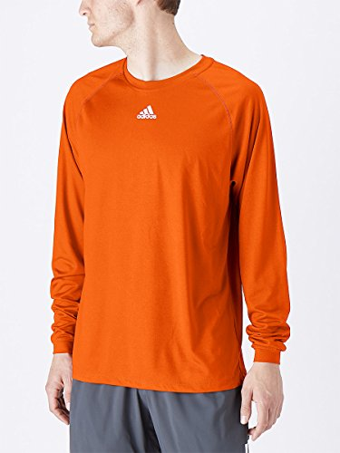 Adidas Climalite Mens Long Sleeve Training Tee 2XL Orange