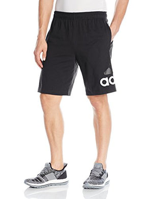 adidas Men's Athletics Jersey Shorts, Black, Medium
