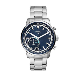Fossil Men's Goodwin Stainless Steel Hybrid Smartwatch, Color: Silver (Model: FTW1173)