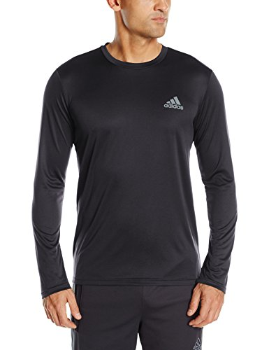 adidas Men's Training Essentials Tech Long Sleeve Tee, Black, Small