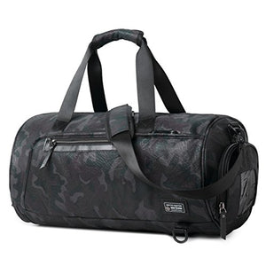 Gym Duffel Bag Sports Travel Backpack Weekender Overnight Tote Bag with Shoe Compartment
