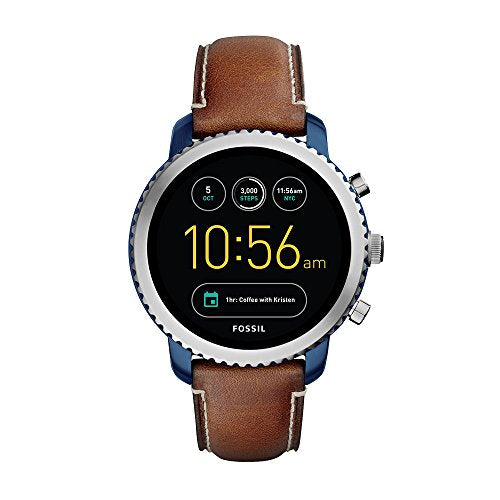 Fossil Q Men's 'Gen 3 Explorist' Quartz Stainless Steel and Leather Smart Watch, Color:Brown (Model: FTW4004)