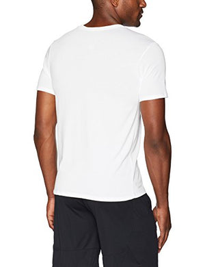 NIKE Men's Dri-FIT Hoops Tee, White/Gym Red, X-Large