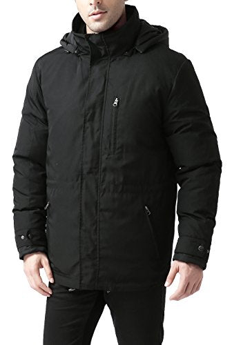 BGSD Men's James 3-in-1 Waterproof Down Parka Coat - L Black - Pharaoh Athletics