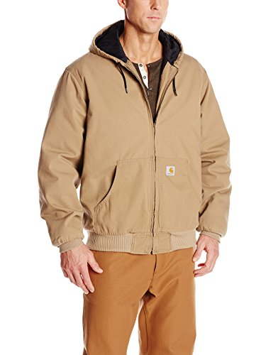 Carhartt Men's Big & Tall Ripstop Active Jacket Quilt Lined,Dark Khaki,Large Tall