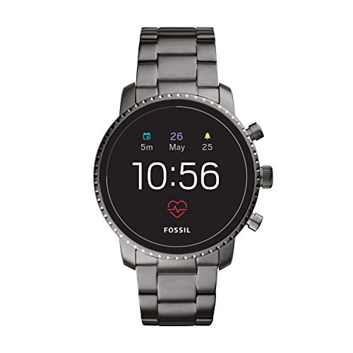 Fossil Men's Gen 4 Explorist HR Stainless Steel Touchscreen Smartwatch, Color: Smoke Grey (Model: FTW4012)