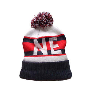 New England Patriots Hat Sport Knit Skully Hat Football Toque Cap for Fans - Pharaoh Athletics