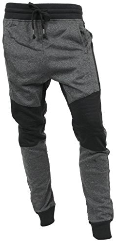 Hat and Beyond Casual Fleece Jogger Pants Active Elastic Urban Biker Slim Fit (Large, 5015)