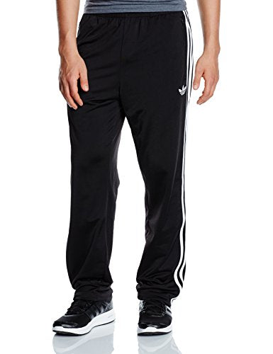 adidas Originals Mens Firebird Pant 3 Stripe Trefoil Logo Track Pant Black New S23232 (Large)