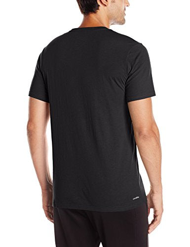 adidas Men's Badge of Sport Graphic Tee, Black/White, Medium