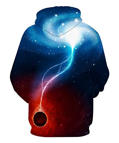 Neemanndy Unisex Youth Galaxy Sweaters Hoodie Pullover Printed Graphic Cool Hoodies with Pocket for Boy and Girls, Large