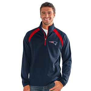 G-III Sports NFL New England Patriots High Impact Half Zip Pullover, 4X, Navy