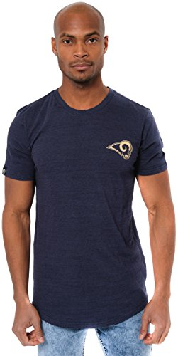 NFL Los Angeles Rams Men's T-Shirt Active Basic Space Dye Tee Shirt, Large, Navy - Pharaoh Athletics