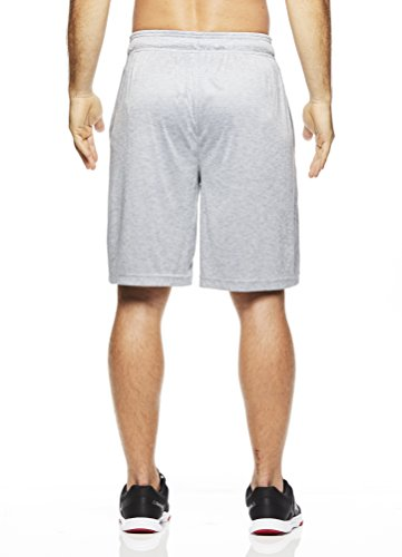 Reebok Men's Drawstring Shorts - Athletic Running & Workout Short - Light Ash Cruz Grey, Small