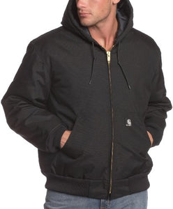 Carhartt Men's Big & Tall Arctic Quilt Lined Yukon Active Jacket,Black,X-Large Tall